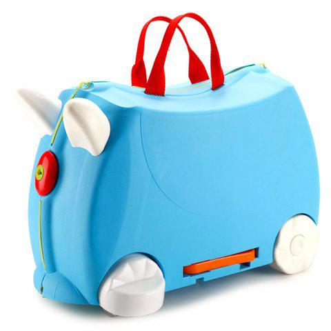 Baby Suitcase Trolley Case Ride Universal Wheel Gift - DODGER BLUE