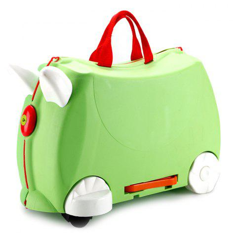 Baby Suitcase Trolley Case Ride Universal Wheel Gift - ALGAE GREEN