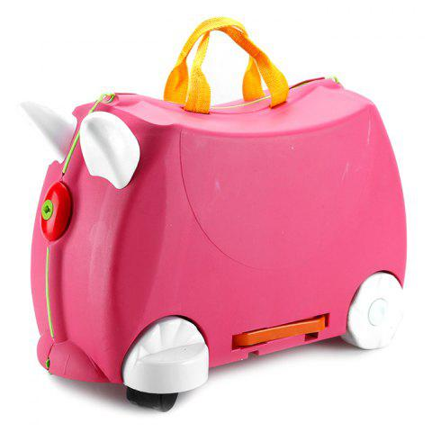 Baby Suitcase Trolley Case Ride Universal Wheel Gift - HOT PINK