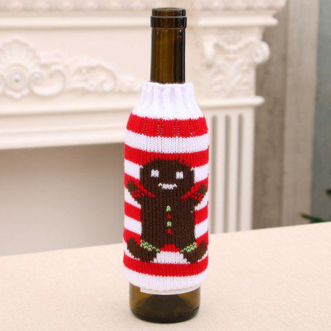 366 High-grade Knitted Christmas Beer Bottle Cover Decoration - WHITE