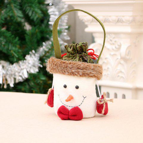 358 Christmas Decorations Upscale Candy Gift Bag - RED SNOWMAN