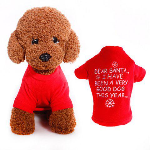 327 Christmas Style Pet Clothes Dog Sweater - LAVA RED S