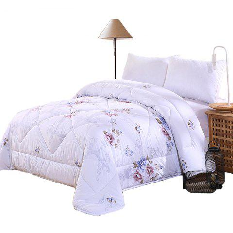 Combed Cotton Washed Winter Quilt High-density Skin-friendly Soft Quilt - multicolor A KING SIZE