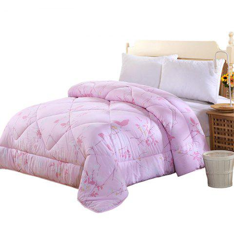 Combed Washed Cotton Autumn Winter Quilt High-density Skin-friendly Soft Quilt - multicolor A DOUBLE