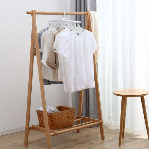 Multi-functional Clothes Rack Foldable Telescopic No Trace Hanger - MILK WHITE