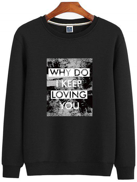 7416602c5 2018 Autumn Sweater Round Neck Pullover Trend Letter Cotton Casual - RED  WINE 2XL