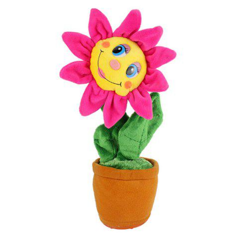 Creative Plush Toys Will Sing The Sun Flower Dolls Will Dance Electric Toys - Rouge Rose