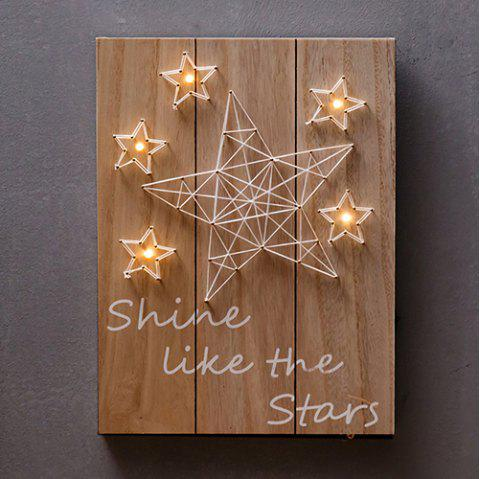 Vintage Wood Painting Wall Hanging Creative Clothing Store Network Red Milk Tea Shop Wall Hanging Restaurant Wall Decoration - BROWN SUGAR STAR