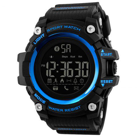 Skmei 1385 Upgrade Bluetooth Smart Multi-function Step Reminder Watch - BLUE