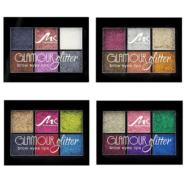 Makeup 6 Color Eyeshadow Waterproof Not Blooming Pearly Eye Shadow Set - multicolor B