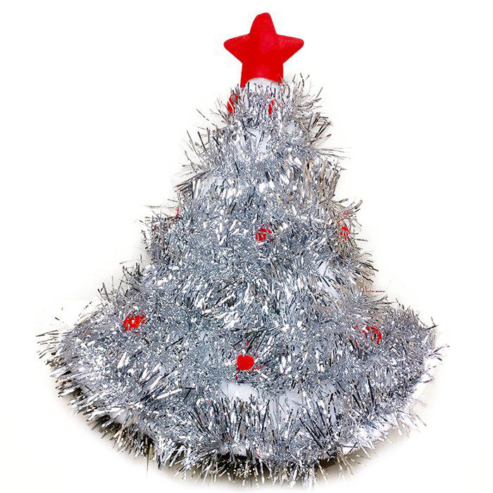 A65 Christmas Tree Style Scribble Hat - SILVER