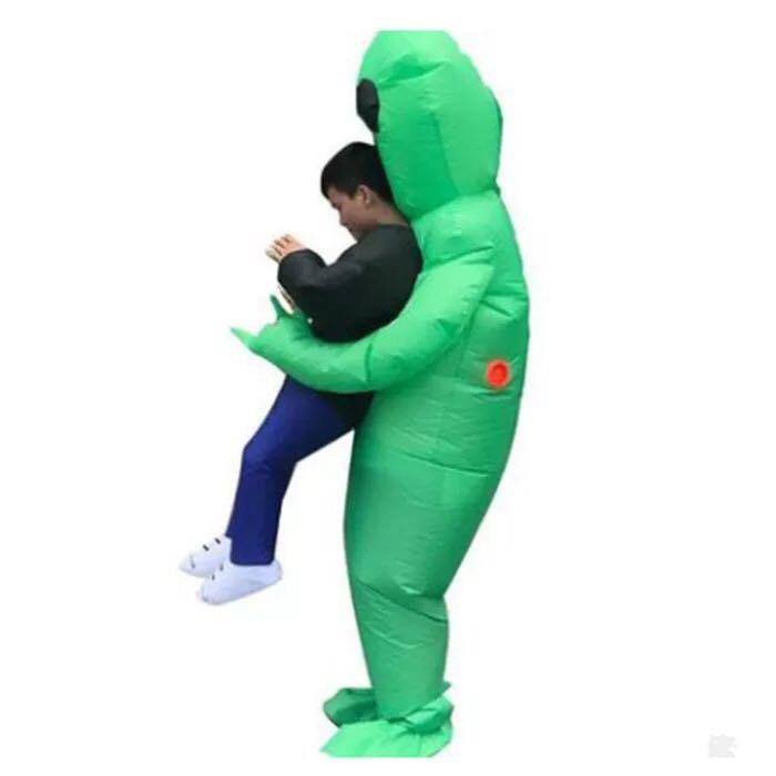 Funny Adult Style Party Annual Meeting Inflatable Alien - GREEN