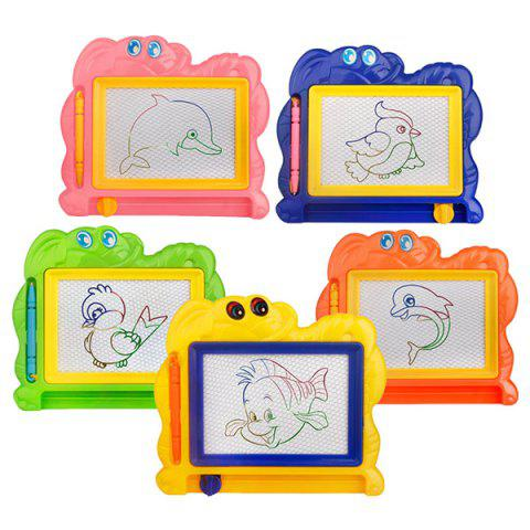 Color Magnetic Drawing Board Children Mini Painting Educational Puzzles Toy 1pc - multicolor