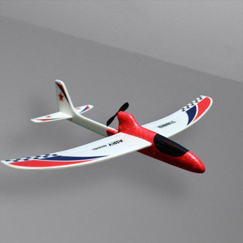 Electric Hand Throwing Foam Aircraft EPP Roundabout Stunt Glider Condenser RC Airplane Toy - RED