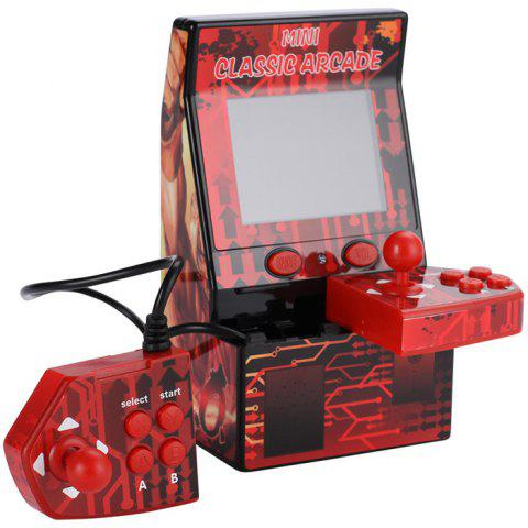 Children Puzzle Handheld Game Console Mini Arcade Built-in 183 Games Support TF Card - RED