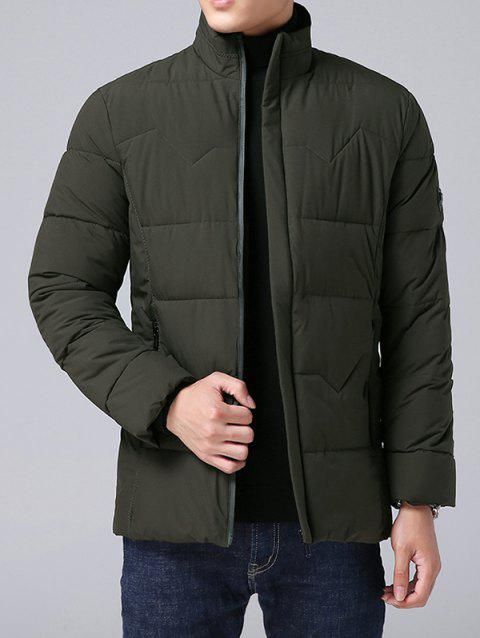 Cotton Men's Thick Hooded Jacket Winter - ARMY GREEN L