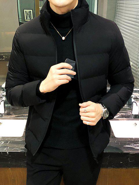 Men White Duck Down Clothes Hooded Down Jacket Winter Coat - BLACK XL