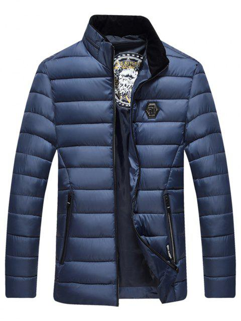 Middle-aged Men Cotton Jacket Collar Parka - CADETBLUE L