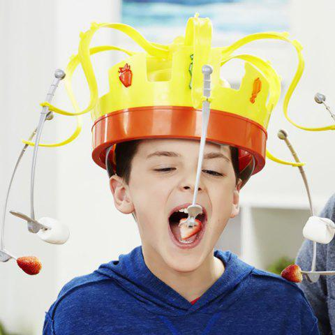 Crown Food Hat Funny Tidy Party Game Toy - YELLOW