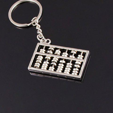 Creative Lucky Abacus Keychain Pendant - SILVER EIGHT SPEED