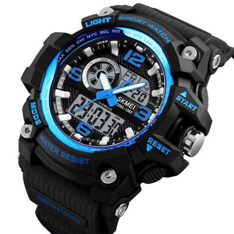 Skmei 1283 Men's Outdoor Waterproof Multi-function Electronic Watch - BLUE