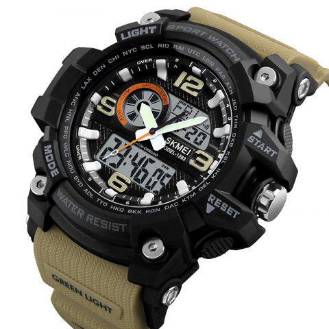 Skmei 1283 Men's Outdoor Waterproof Multi-function Electronic Watch - KHAKI