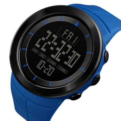 Skmei 1402 Male Outdoor Sports Electronic Watch Countdown Fashion Big Dial - BLUE