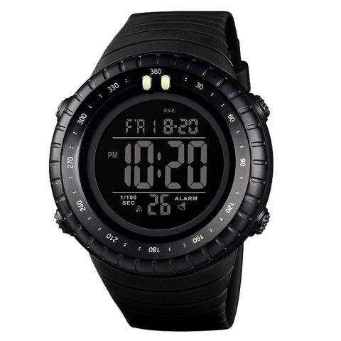 Skmei 1420 Male Double Display Multi-function Outdoor Sports Watch - BLACK
