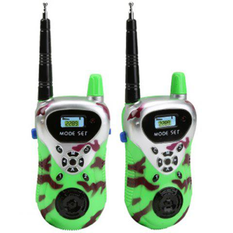 Remote Wireless Call Electric Walkie-talkie Children Play Toy - YELLOW GREEN