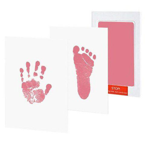 Anti-virus Infection Baby Special Hand And Foot Print Hand Print Table - PINK