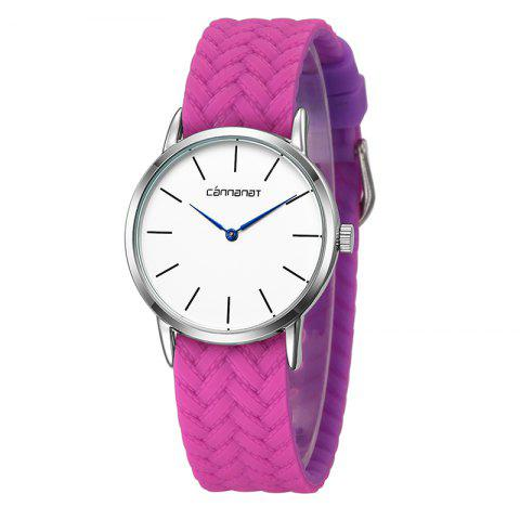 REBIRTH D003 High Quality Movement Unisex Couple Quartz Watch - HOT PINK