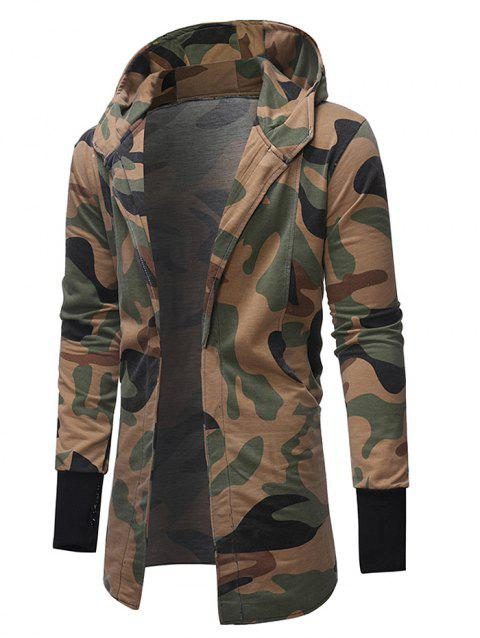 Men's Camouflage Trench Jacket - multicolor L XL