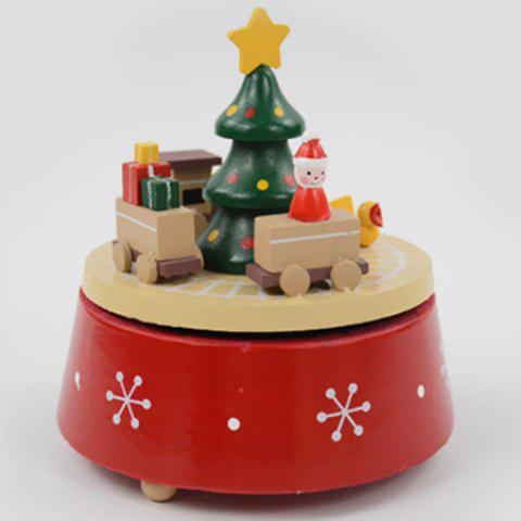 Christmas Carousel Santa Claus Music Box Creative Gifts - BEIGE CAR