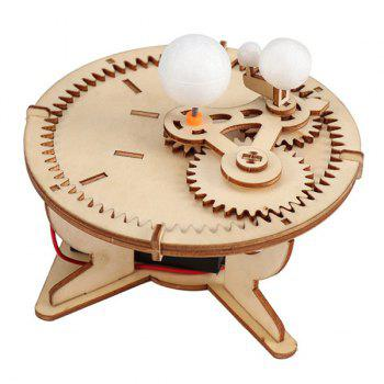 DIY  Sun Earth Moon Three Ball Instrument Children Science Experiment Toy