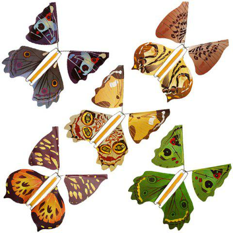 Metal Bracket Butterfly Flying Butterfly Magic Toy - multicolor