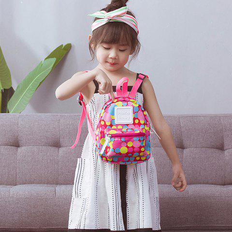 Polyester Baby Anti-lost Cartoon Backpack - ROSE RED