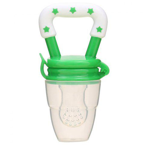 Baby Fruit And Vegetable Rubber Pacifier Bite Bag Baby Food Supplement Feeding Device - multicolor D L