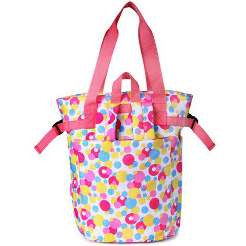 2 in 1 Shoulder Portable Fashion Multi-function Large Capacity Mother Bag - WHITE