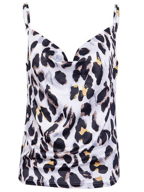 New Leopard Printing Women's Camisole - WHITE M