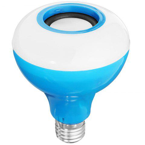 E27 Smart Bluetooth Music Bulb Led Colorful Speaker Wireless With Remote Control Audio Light - DEEP SKY BLUE