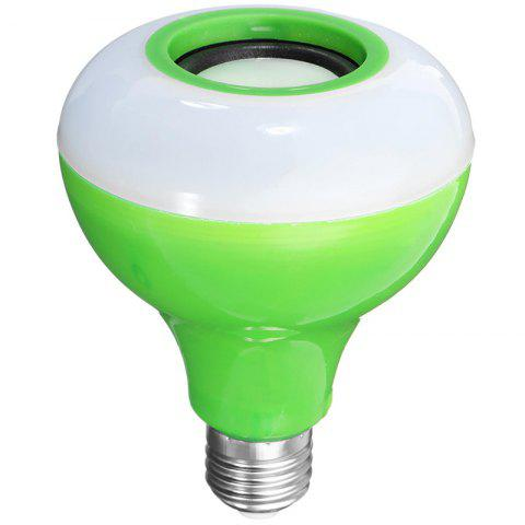 E27 Smart Bluetooth Music Bulb Led Colorful Speaker Wireless With Remote Control Audio Light - GREEN
