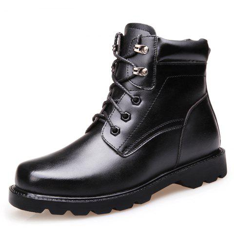Simple Men's Shoes Military Boots - BLACK EU 41