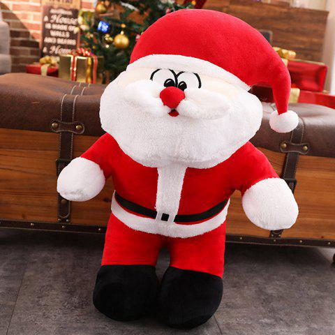 393 Christmas Cute Santa Plush Toy Doll ( Small Paragraph) - Rouge ROUND EYE
