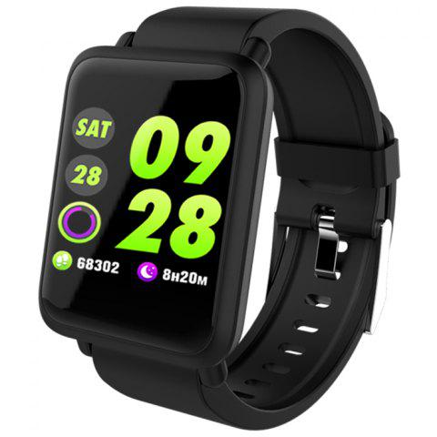 M28 1.3 inch Bluetooth 4.0 Smart Bracelet with Heart Rate Monitoring Blood Oxygen Functions - BLACK