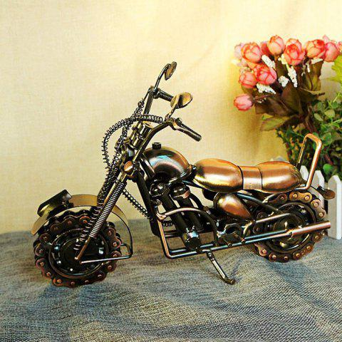 M94 Extra Large Domineering Chain Motorcycle Model Craft Decoration Gift - RED WINE
