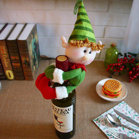 Christmas Decorations Santa Snowman Champagne Bottle Cover Bar Restaurant Decoration - GREEN ELF