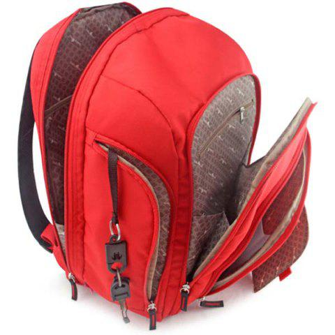 Fashionable Multi-function Large Capacity Mummy Bag for Mother / Children - RED
