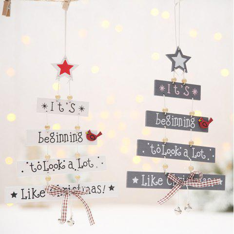 Color Letter Christmas Wooden Decorative Pendant Creative Decorations For Shopping Mall Window Home