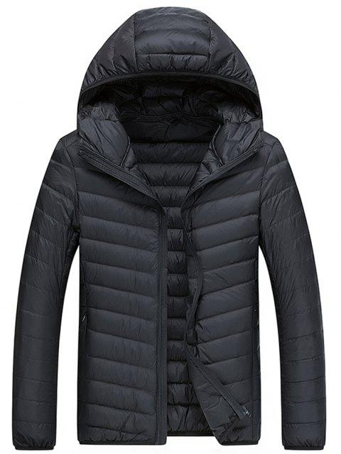Men's Warm Jacket Fashion Simple Down Jacket - BLACK M