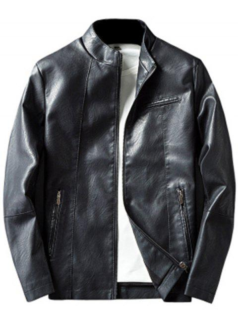 Men's Thin Suede Leather Jacket Jacket Early Winter Mature - RED WINE L